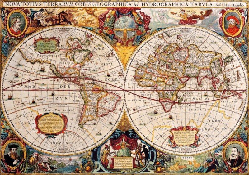 BLUEBIRD Puzzle Antická mapa světa 1000 dílků