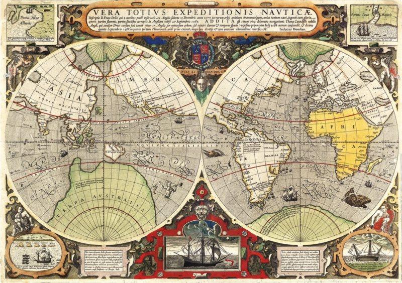 CLEMENTONI Puzzle Antická námořní mapa 6000 dílků