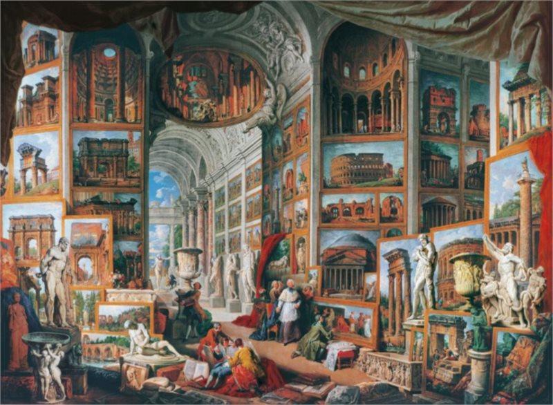 CLEMENTONI rozbaleno: Puzzle Antický Řím 6000 dílků