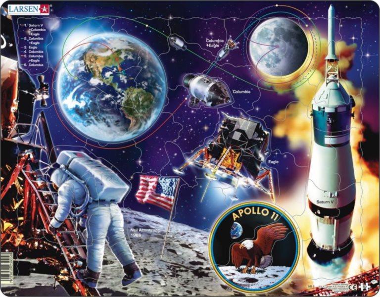 LARSEN Puzzle Apollo 11, 50 dílků