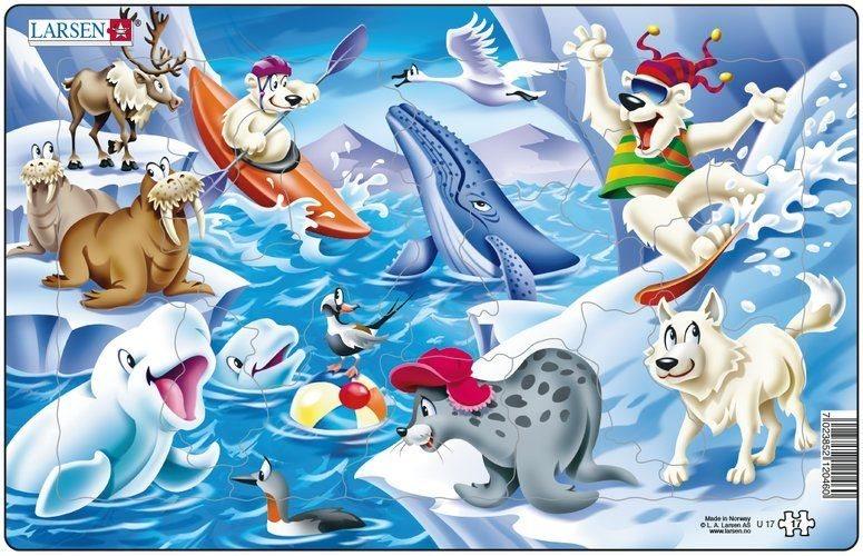 Dětské puzzle LARSEN 17 dílků - Arktické koupání