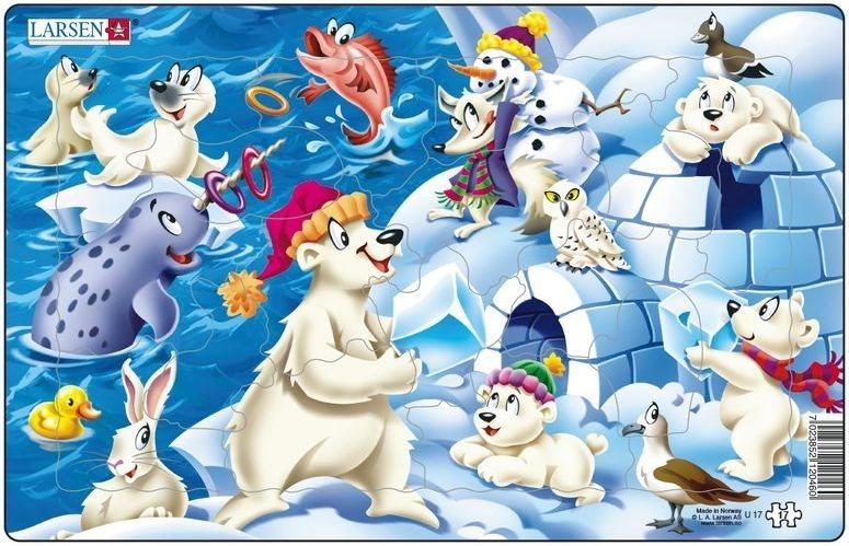 LARSEN Puzzle Arktický led 17 dílků