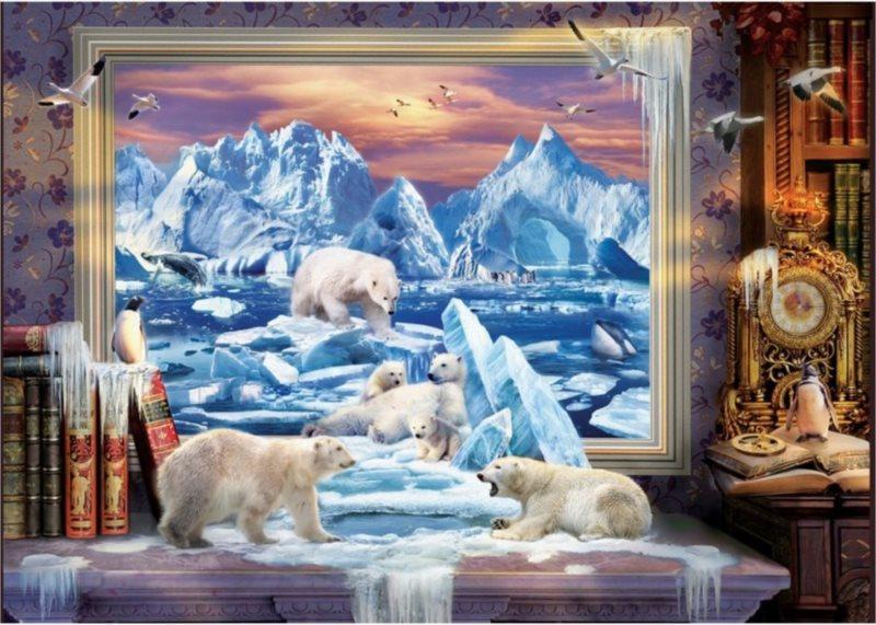 Puzzle ART PUZZLE 4624 Arktický sen 1500 dílků