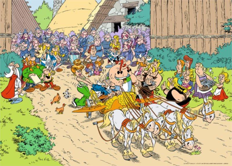 RAVENSBURGER Puzzle Asterix a Obelix: V Itálii 1000 dílků