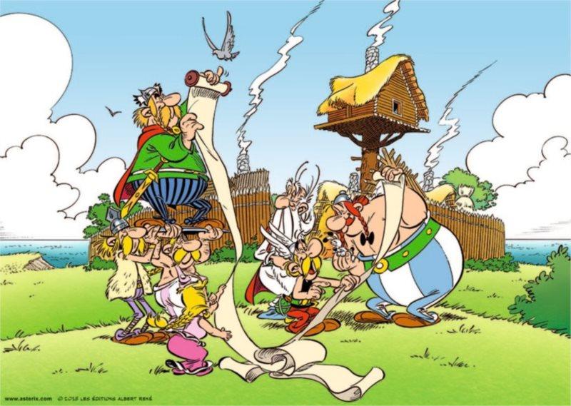 RAVENSBURGER Puzzle Asterix a Obelix: Zpráva od Caesara 1000 dílků