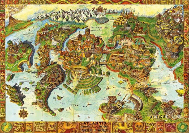 BLUEBIRD Puzzle Atlantida, centrum starověkého světa 1000 dílků