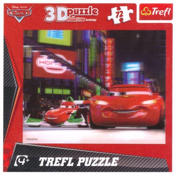 3D puzzle pro děti TREFL 72 dílků - Auta 2 (Cars 2) 3D