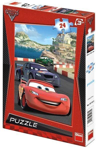 Dětské puzzle DINO 24 dílků - Auta 2: V Monaku