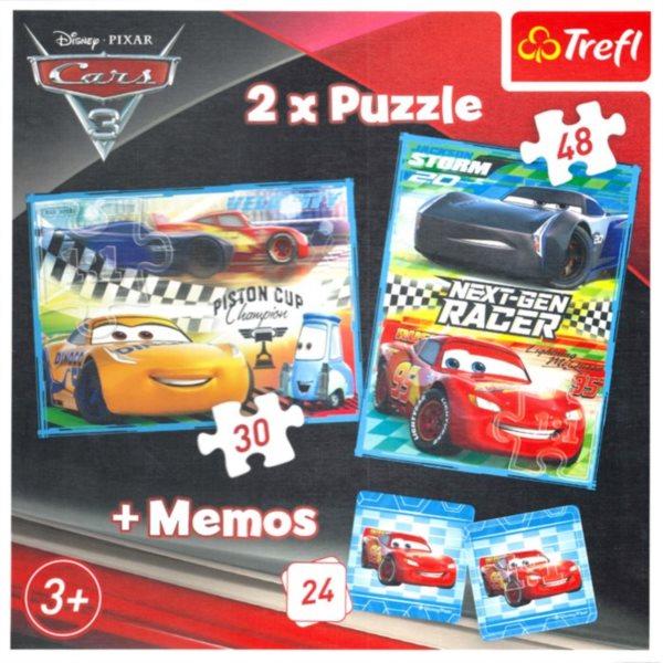 TREFL Puzzle Auta 3, 30+48 dílků + pexeso