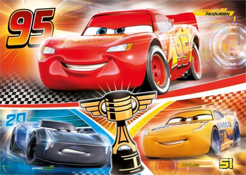 CLEMENTONI Puzzle Auta 3: Rivalita MAXI 104 dílků