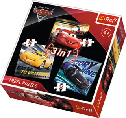 Puzzle pro děti TREFL 34820 Auta 3: Závodníci 3v1