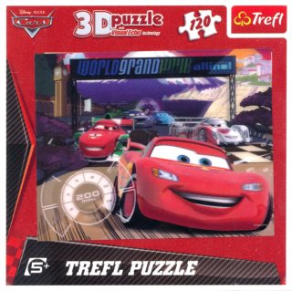 3D puzzle pro děti TREFL 120 dílků - Auta
