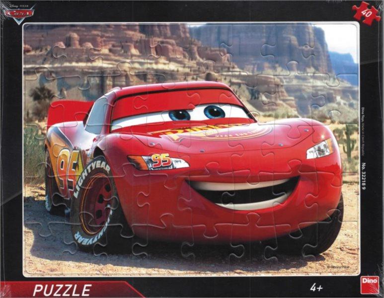 DINO Puzzle Auta: Blesk McQueen 40 dílků