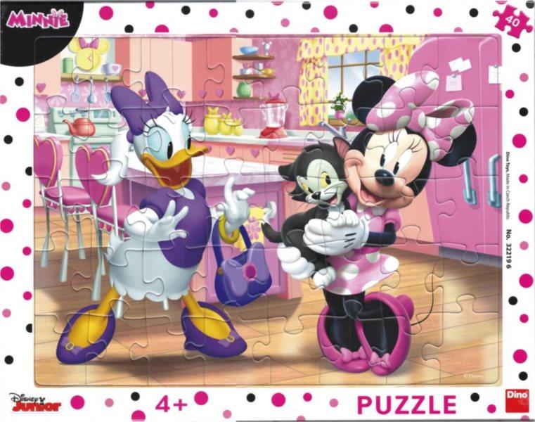 DINO Puzzle Minnie má nového mazlíčka 40 dílků
