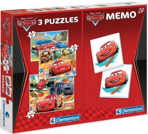 Dětské puzzle + pexeso: Auta (Cars)