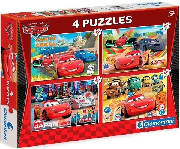 Dětské puzzle - Auta (Cars) (2x20, 2x60 dílků)