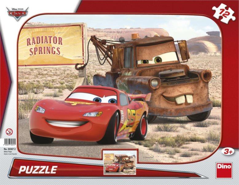 DINO Puzzle Auta: Blesk a Burák 12 dílků