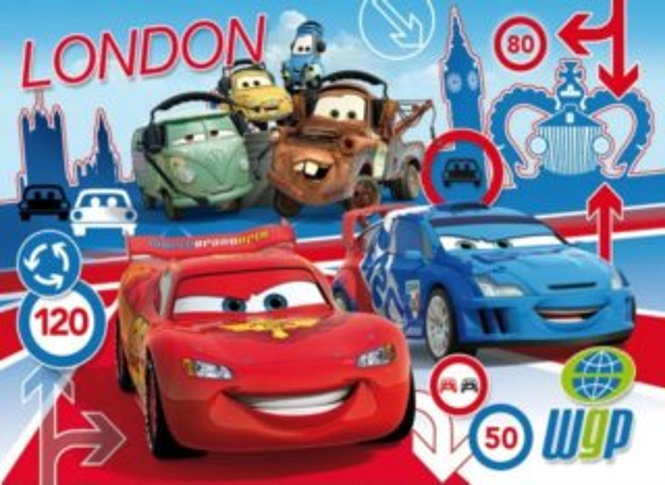 CLEMENTONI puzzle Auta Cars Londýn 180 dílků