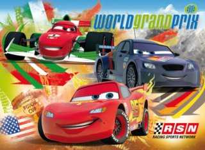 Dětské podlahové puzzle 30 dílků - Auta (Cars): Závody