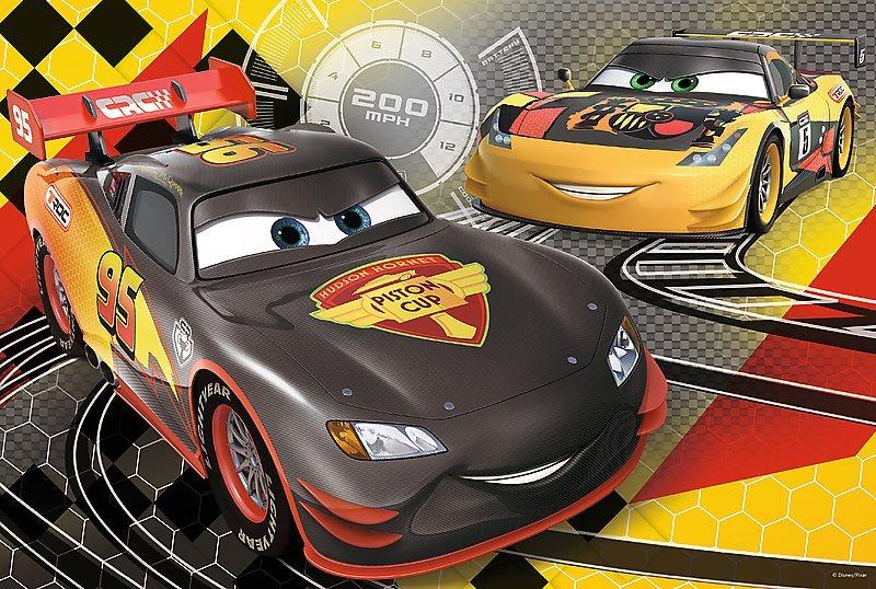 Puzzle pro děti TREFL 60 dílků - Auta: Ice Racers - Cílová čára