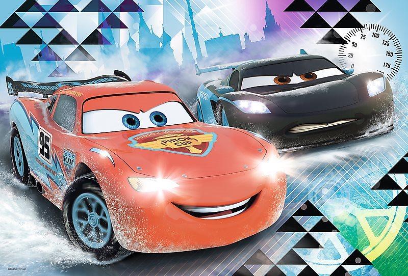 Puzzle pro děti TREFL 100 dílků - Auta: Ice Racers - Ledové dobrodružství