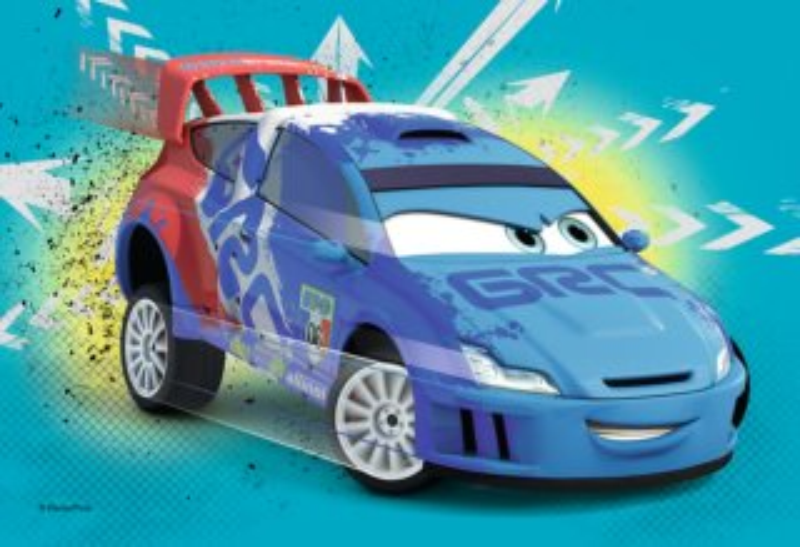 Dětské puzzle TREFL 54 dílků - Auta: Modrý závodník