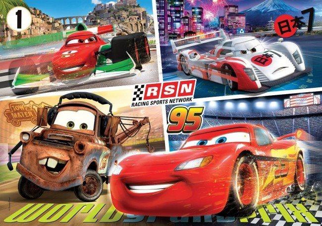 CLEMENTONI Puzzle Auta: Závodíme 60 dílků