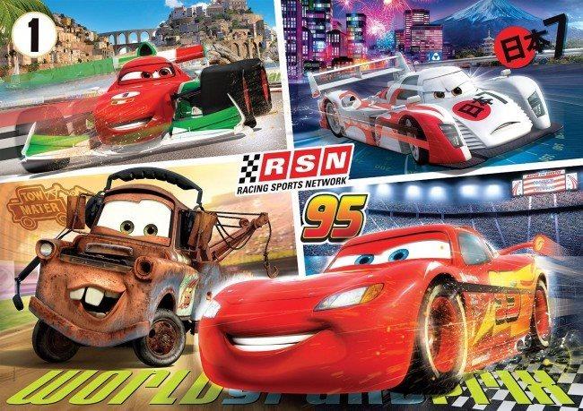CLEMENTONI Puzzle Auta: Závody MAXI 24 dílků