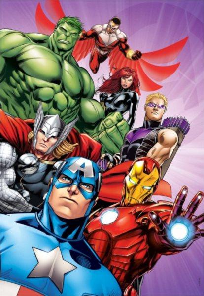 CLEMENTONI Puzzle Avengers: Porazíme svět 104 dílků