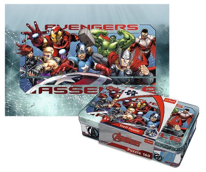 TREFL Puzzle Avengers 160 dílků v plechové krabičce