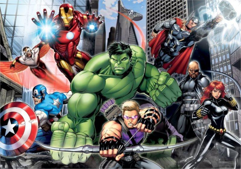 CLEMENTONI Puzzle Avengers: Připraveni k boji MAXI 104 dílků