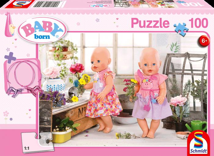 SCHMIDT Puzzle Baby Born: Květinářství 100 dílků + dárek