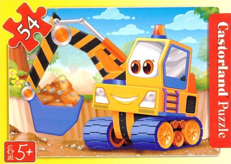 CASTORLAND Dětské puzzle 54 dílků - Bagr