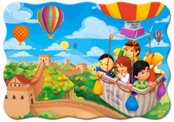 CASTORLAND Puzzle Balónem nad Velkou čínskou zdí 30 dílků