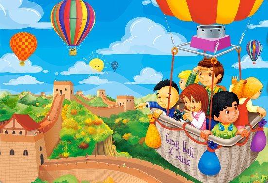 CASTORLAND Puzzle Balónem nad Velkou čínskou zdí 54 dílků