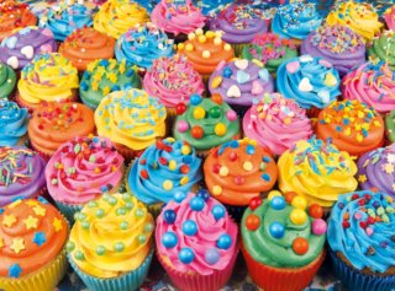 CLEMENTONI Puzzle Barevné cupcakes 500 dílků