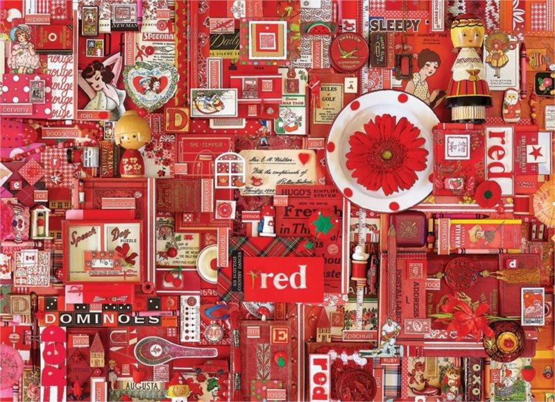 COBBLE HILL Puzzle Barvy duhy: Červená 1000 dílků