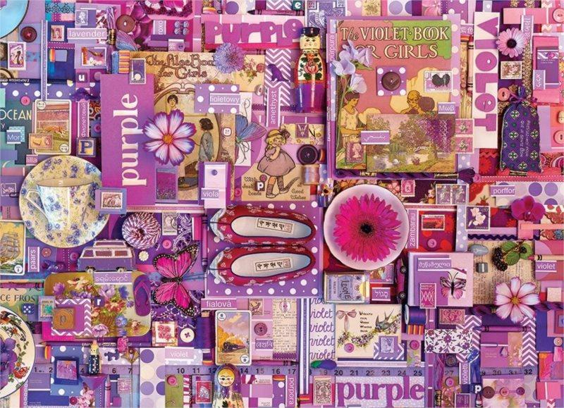 COBBLE HILL Puzzle Barvy duhy: Fialová 1000 dílků