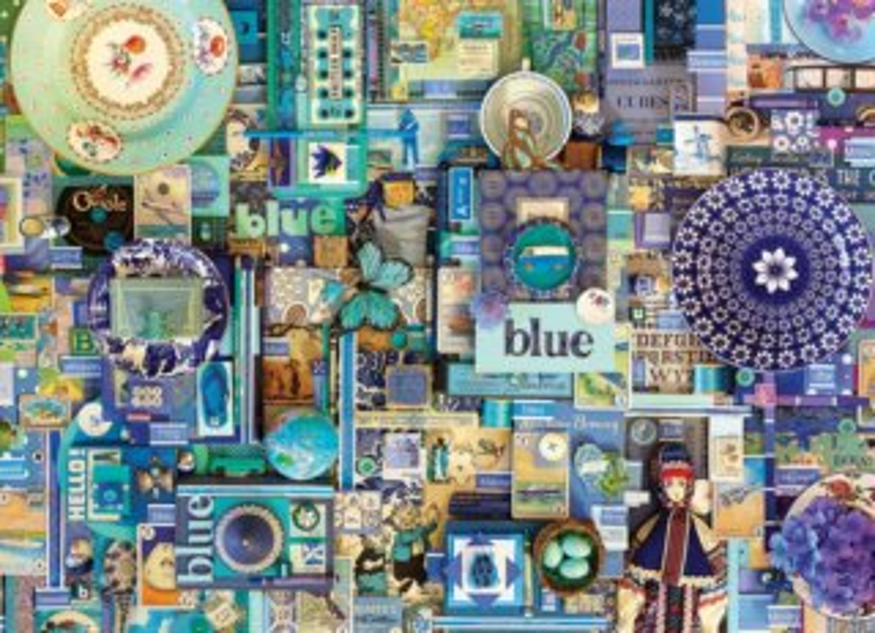 COBBLE HILL Puzzle Barvy duhy: Modrá 1000 dílků