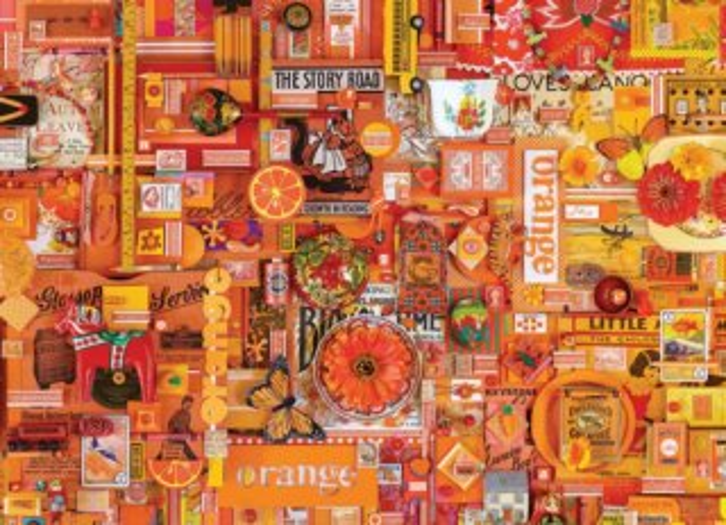 COBBLE HILL Puzzle Barvy duhy: Oranžová 1000 dílků