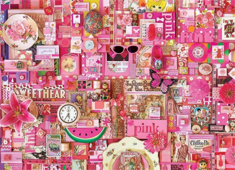 COBBLE HILL Puzzle Barvy duhy: Růžová 1000 dílků