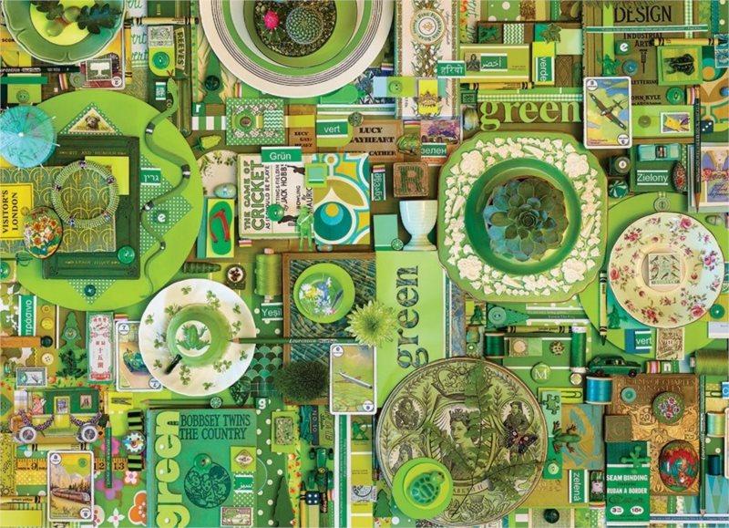 COBBLE HILL Puzzle Barvy duhy: Zelená 1000 dílků