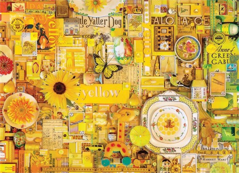 COBBLE HILL Puzzle Barvy duhy: Žlutá 1000 dílků
