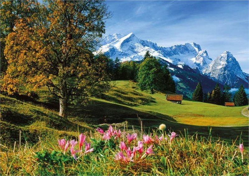 Puzzle DINO 1500 dílků - Bavorské Alpy