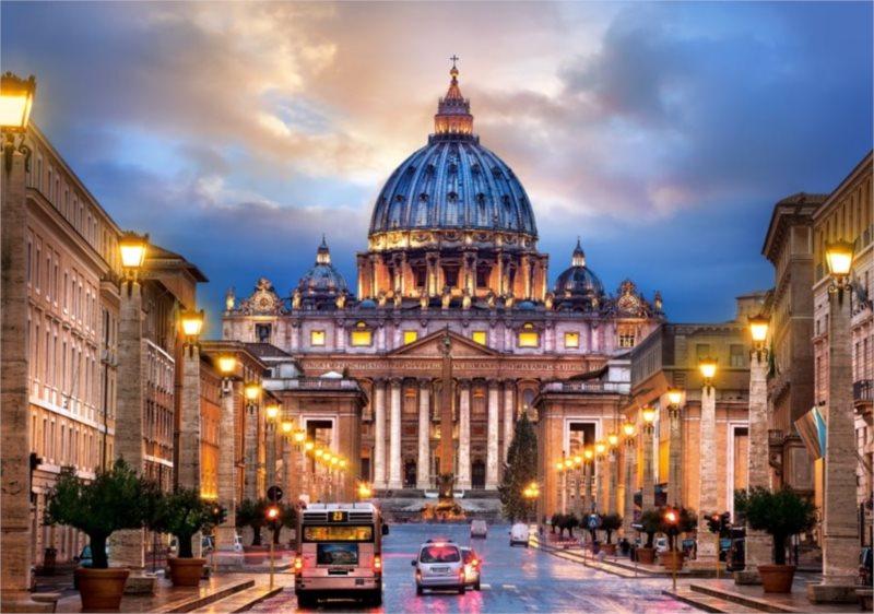 poškozený obal: Puzzle CASTORLAND 500 dílků - Bazilika svatého Petra, Řím