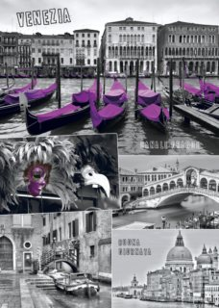 DINO Puzzle Benátky - koláž 1000 dílků