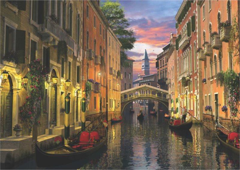 ANATOLIAN Puzzle Benátky při soumraku 3000 dílků