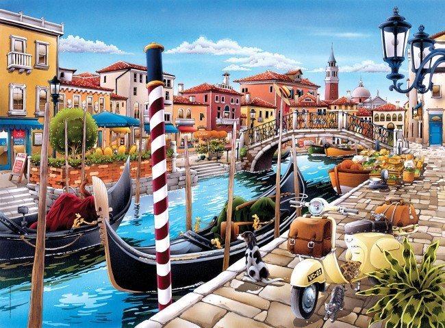 CLEMENTONI Puzzle Benátský záliv, Benátky 500 dílků