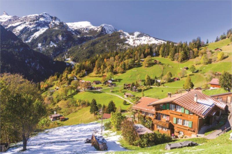 Puzzle JUMBO 18587 Bernské Alpy, Švýcarsko 1500 dílků