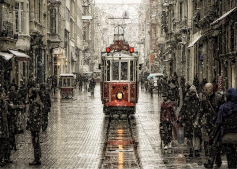 ART PUZZLE Puzzle Beyoglu v plískanici, Istanbul 2000 dílků